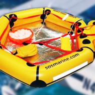 SOS Marine 2-3 Person Aviation Life Raft