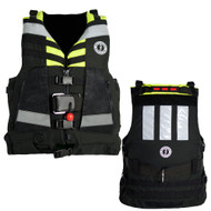 Mustang Universal Swift Water Rescue Vest, Type V SAR PFD - fluorescent yellow - green / black