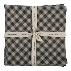 GINGHAM NAPKINS, INDIGO, SET OF 4