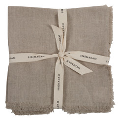 SOLID LINEN NAPKINS, NATURAL, SET OF 4