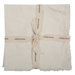 SOLID LINEN NAPKINS, OYSTER WHITE, SET OF 4