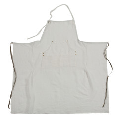LINEN GRAND APRON, OYSTER WHITE