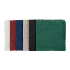 COCKTAIL NAPKINS, CLASSIC, ASSORTED SET OF 6