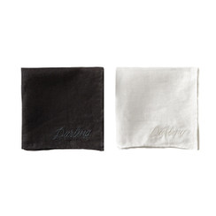 Darling, Embroidered Handkerchiefs, Set of 2