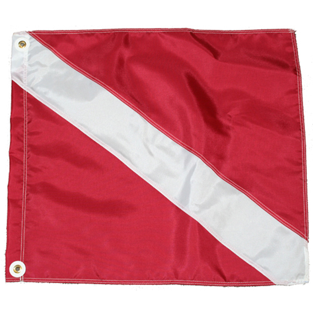 Nylon dive flag slip on style 20x24 jcs - Dive senza slip ...
