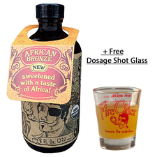 African Bronze Fire Cider Apple Cider Vinegar & Honey Tonic. With Free Dosage Shot Glass