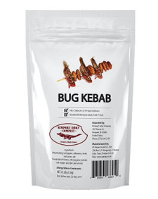 Edible Insects Bug Kebab
