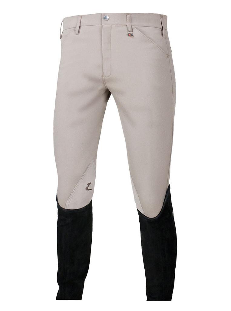 CLEARANCE: Horze Grand Prix Men's Self Patch Breeches (White)