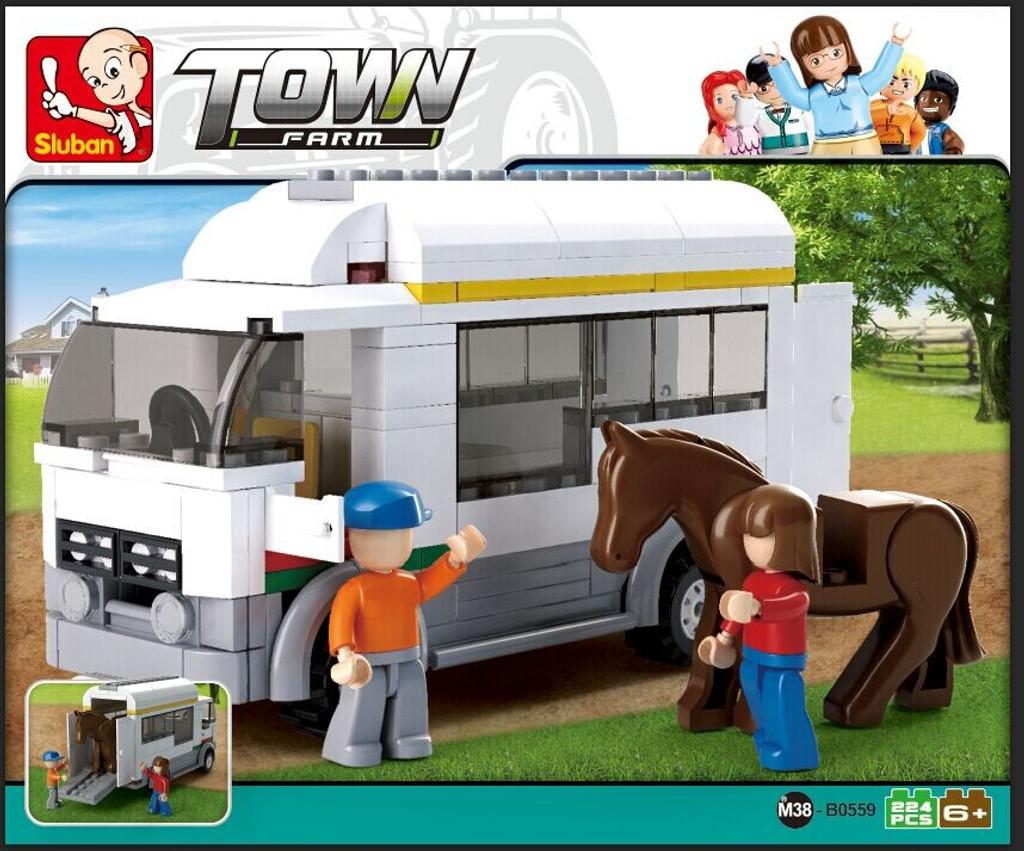 Sluban Building Blocks - Horse Truck Farm (170 Piece)