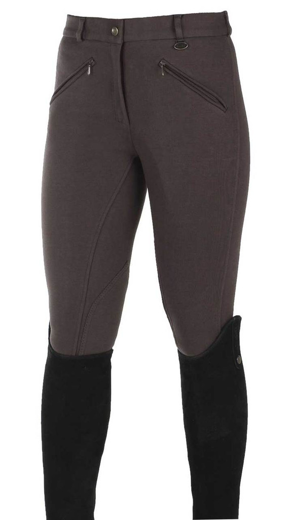 CLEARANCE: Horze Active Ladies Self Patch Breeches (Old Style)