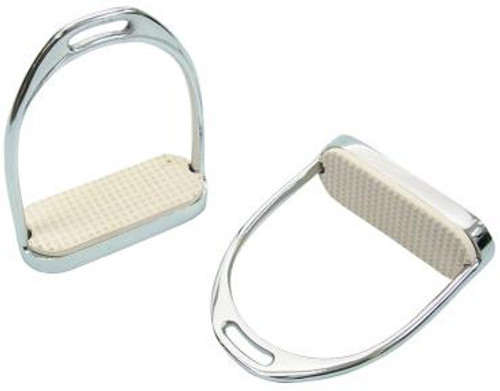 Stainless Steel Knife Edge Stirrup Irons (With Treads)
