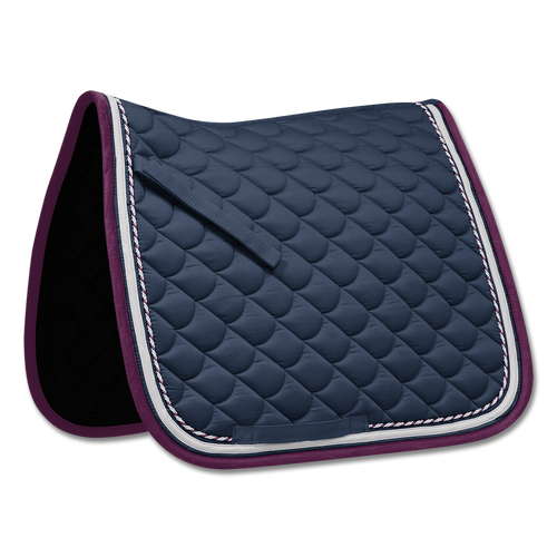 Waldhausen ROM Dressage Saddle Pad - Night Blue/Purple