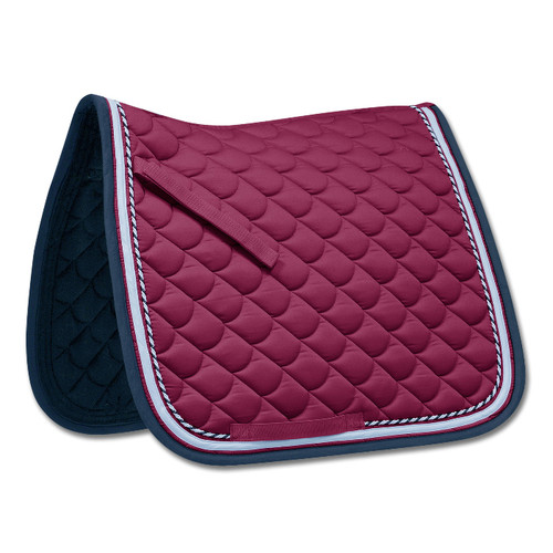 Waldhausen ROM General Purpose Saddle Pad - Wine Red/Night Blue