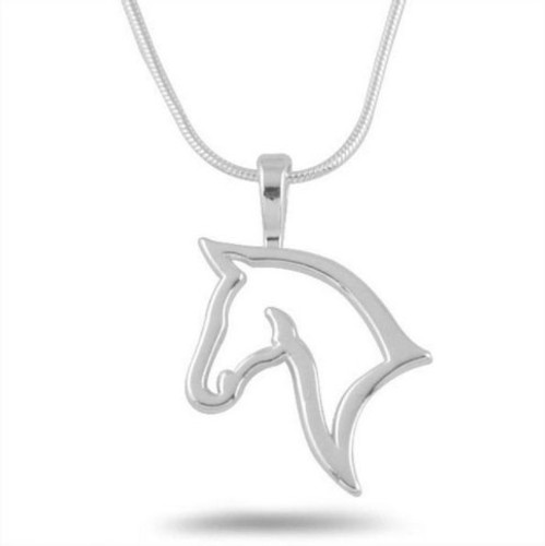 Horse Head Silhouette Necklace