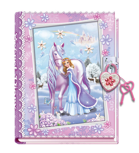 Snowflake Princess Diary W/Plastic Lock