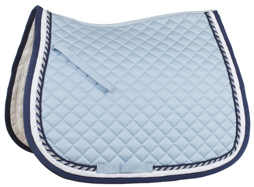 CLEARANCE: Horze Double Corded All Purpose Saddle Pad (Blue Only!)