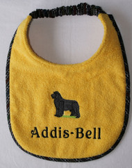 Personalized Solid Stacked Newf Bib