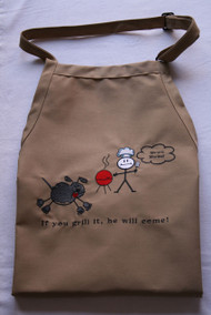 Embroidered barbecue apron