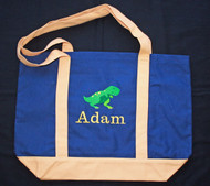 Tote bag with dinosaur