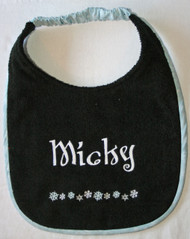 Snowflake Border #2 Personalized Drool Bib