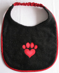black terry dog drool bib