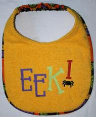 EEK! Halloween Dog Drool Bib (large)