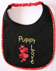 Black Terry Puppy Love Dog Drool Bib