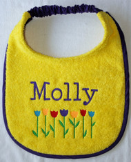 yellow terry dog drool bib