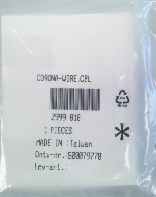 Oce 2999818 Charge Wire Assembly CPL