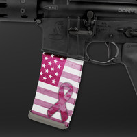 Breast Cancer Awareness Mag Wraps® Pink American Flag