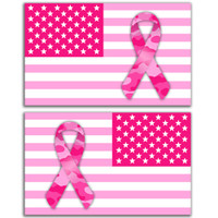Breast Cancer Awareness Vehicle Flag Set