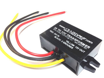 24v to 12v Converter - Stepdown transformer Aircraft / Airplane upto 28 volt