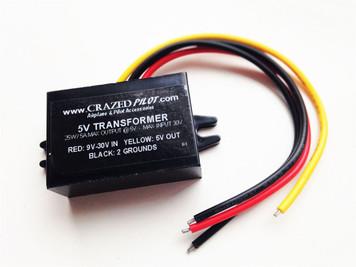 5v Converter - Stepdown transformer Aircraft / Airplane 12V, 24V, upto 30V input