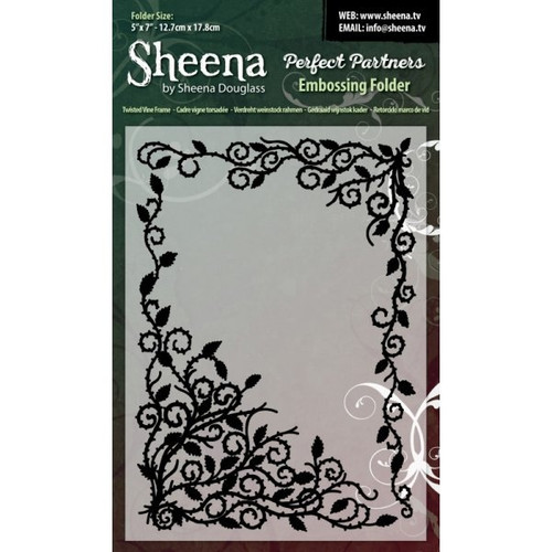 Fantastic value 5in x 7in Twisted Vine Frame embossing folder. Complements the Perfect Partners range beautifully, Works perfectly with most leading brand machines, Add texture & style to all your cardmaking projects.
