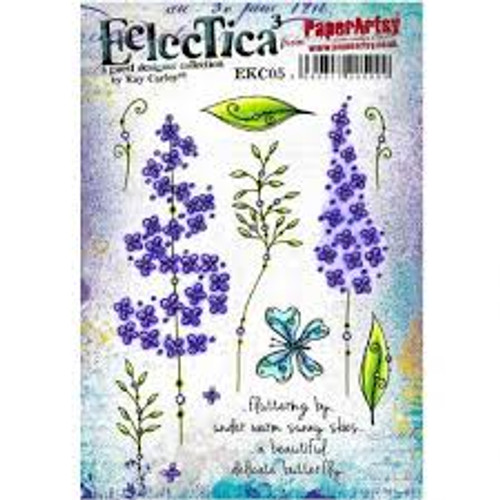 PaperArtsy Cling Mounted Stamp Set - Eclectica³ - Kay Carley - EKC05