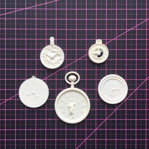 Clock Set (5 pcs) - Resin Embellishment