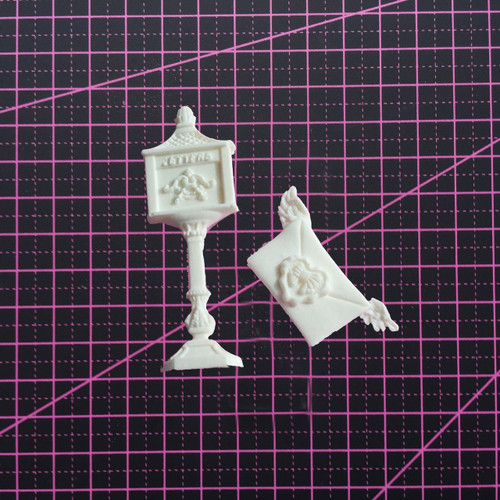 Mail Post and Letter - Resin Embellishment