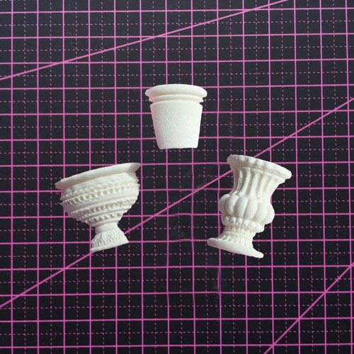 Three Pots - Resin Embellishment