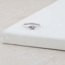 Petite Stairway To Heaven Solitaire Ring (RR224)
