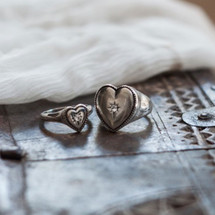 Petite Sentiments Signet Ring (RR234)