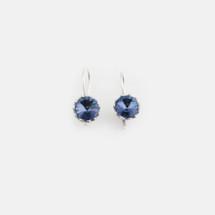 Denim Blue Floral Drop Earrings (E3189)