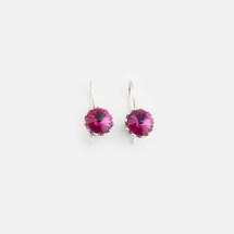 Fuschia Floral Drop Earrings (E3186)