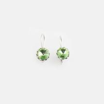 Peridot Floral Drop Earrings (E3187)