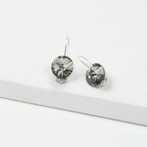 Tiger Lily Black Diamond Earrings (E3208)
