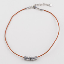 Petite luxe leather necklace (N1687)