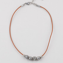 Petite Edie Leather Necklace