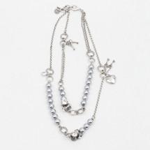 Serenity Grey Pearl Necklace (N1837)