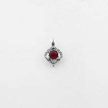 Square filigree pendant with a siam Swarovski® crystal centre