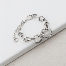 Nautical Chain & Link Bracelet (B1256)