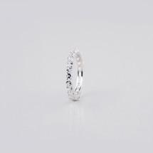 Sterling Silver eternity ring embellished with Cubic Zirconia